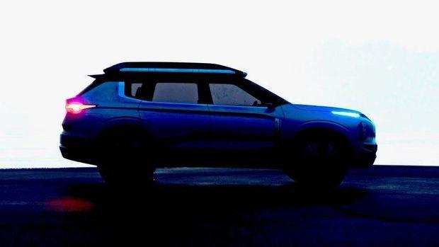 Tampak samping mobil listrik terbaru Mitsubishi