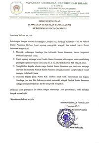 Pondok Buntet Pesantren Cirebon Tolak Kunjungan Sandiaga Uno