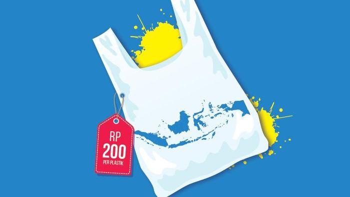 Ilustrasi cukai kantong plastik/Foto: Andhyka Akbariansyah