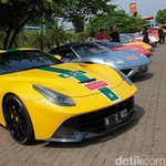 Puluhan Ferrari Jajal Aspal Tol Trans Jawa