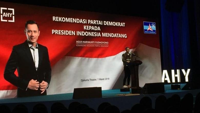 Pidato Lengkap AHY soal Rekomendasi Demokrat untuk Presiden Mendatang