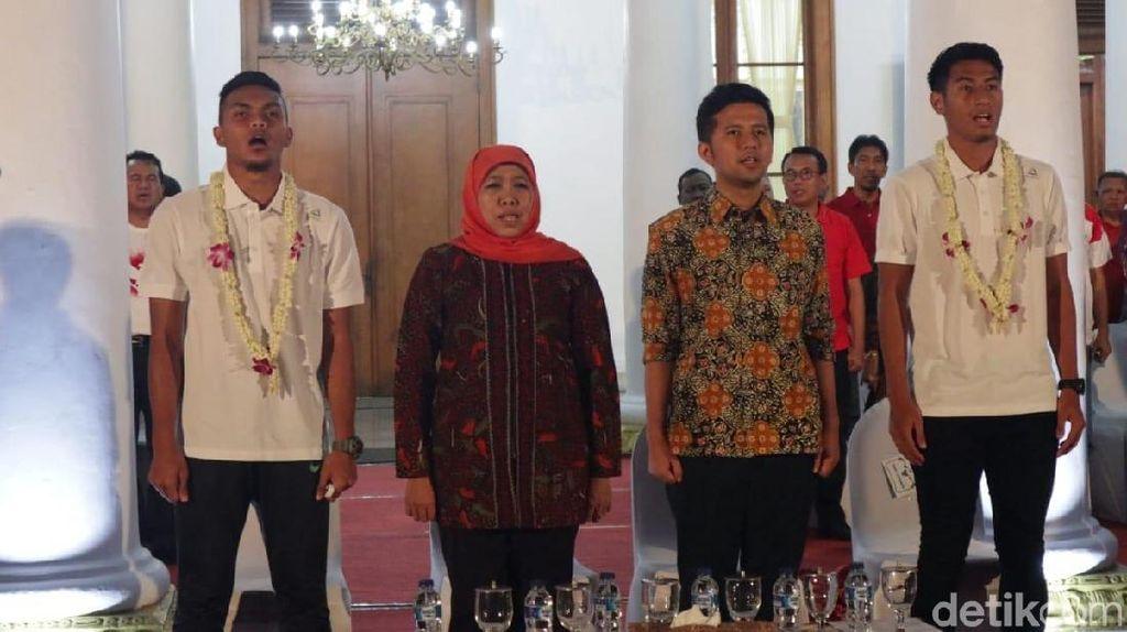 Pulang ke Surabaya, 4 Penggawa Timnas U-22 Disambut Gubernur Khofifah