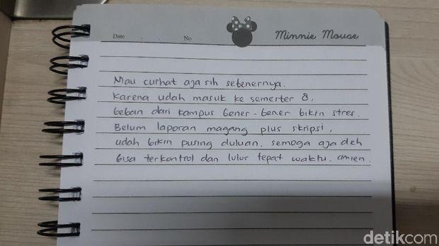 Tulisan tangan Ayunda.
