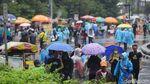 Meski Hujan, Warga Tetap Antusias Berolahraga di CFD