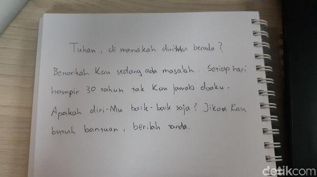 Tulisan tangan Stefanus.