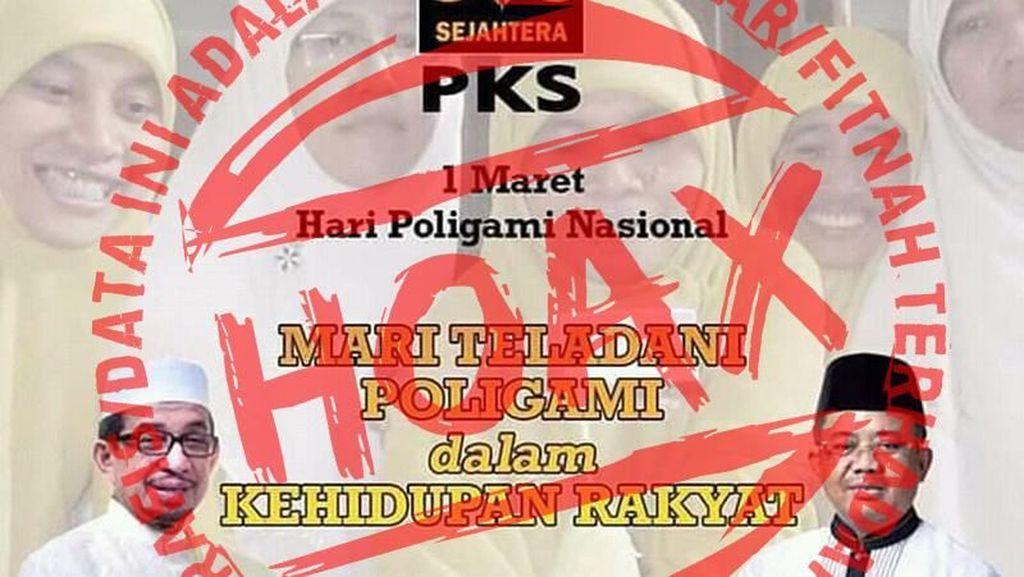 PKS: Meme 1 Maret Hari Poligami Nasional Hoax!