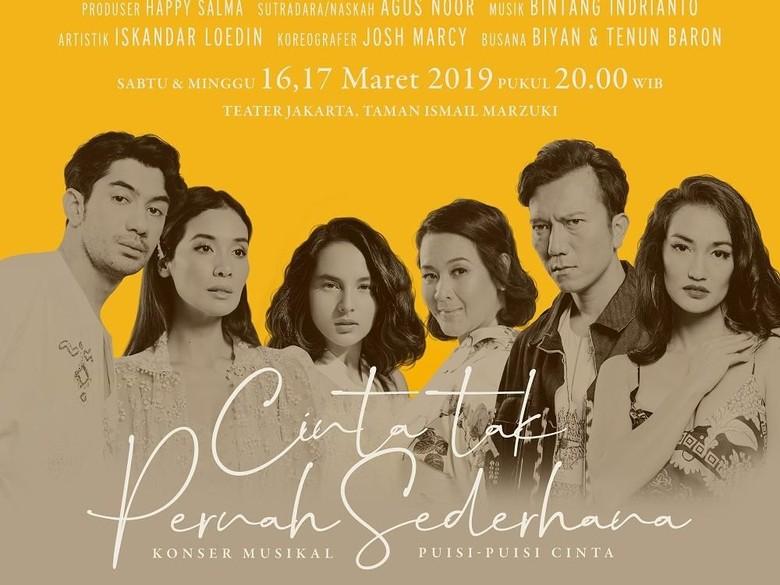 Happy Salma Ungkap Persiapan Konser Musikal Puisi-puisi Cinta Sudah 90 Persen