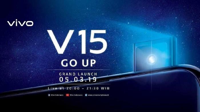 Grand launching Vivo V15 akan berlangsung 5 Maret 2019. (Foto: dok. Vivo)