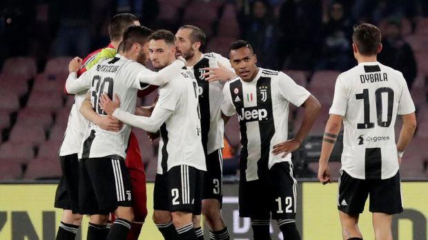 Juventus kalahkan Napoli 2-1 di Liga Italia Serie A. (