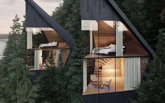 Peter Pichler Architecture telah mengembangkan konsep rumah pohon berkelanjutan di hutan Dolomit, Italia. Istimewa/Peter Pichler/Boredpanda.