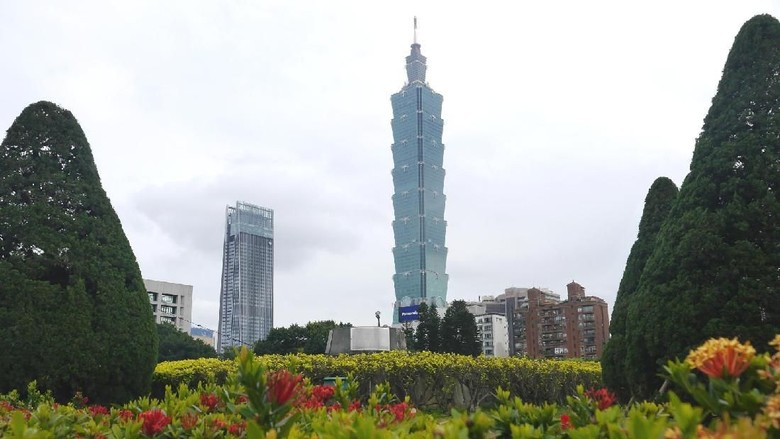Gedung Taipei 101, landmark Taiwan (Kurnia/detikTravel)