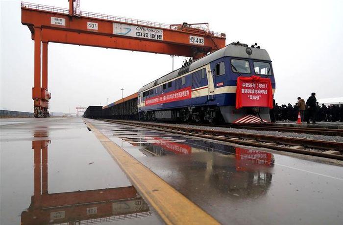 Kereta kargo ini melintas dari China hingga ke Eropa. Istimewa/Xinhuanet.