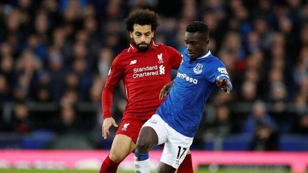 Mohamed Salah dan kawan-kawan tak bisa menembus pertahanan Everton.