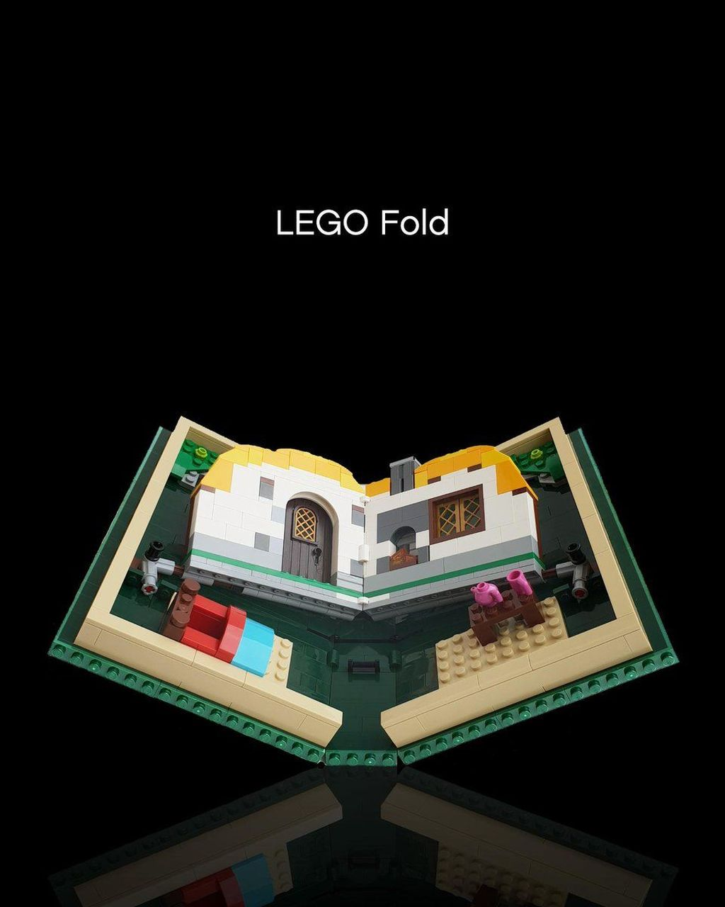 Perkenalkan Lego Fold. Bukan Galaxy Fold si ponsel layar lipat, tapi juga bisa dilipat. (Foto: Dok. Lego via Twitter)