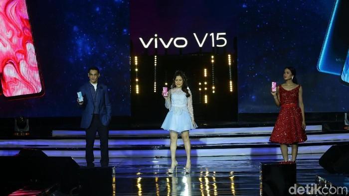 Peluncuran Vivo V15 yang berlangsung meriah dan bertabur bintang. Foto: Grandyos Zafna/detikINET