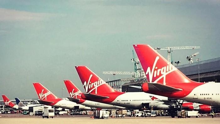 Pesawat Virgin Atlantic. Foto: Instagram/@virginatlantic