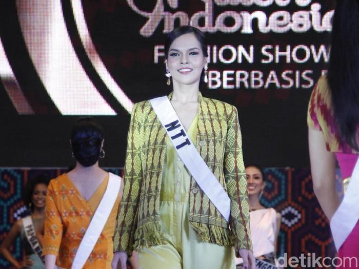 Finalis NTT lolos sebagai top 3 Puteri Indonesia 2019. Foto: Mohammad Abduh/Wolipop