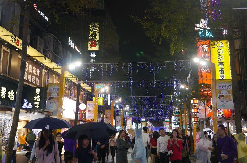 Ximending menjadi destinasi yang begitu populer di Taipei, Taiwan. Kawasan ini dijuluki Harajukunya Taipei (Kurnia/detikTravel)