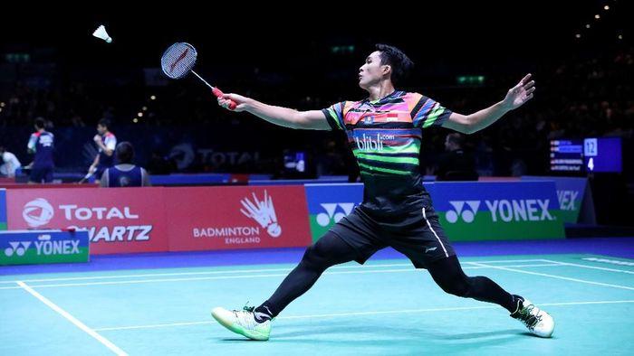 Jonatan Christie yang berlaga di semifinal Malaysia Terbuka 2019. (Foto: dok. Humas PBSI)