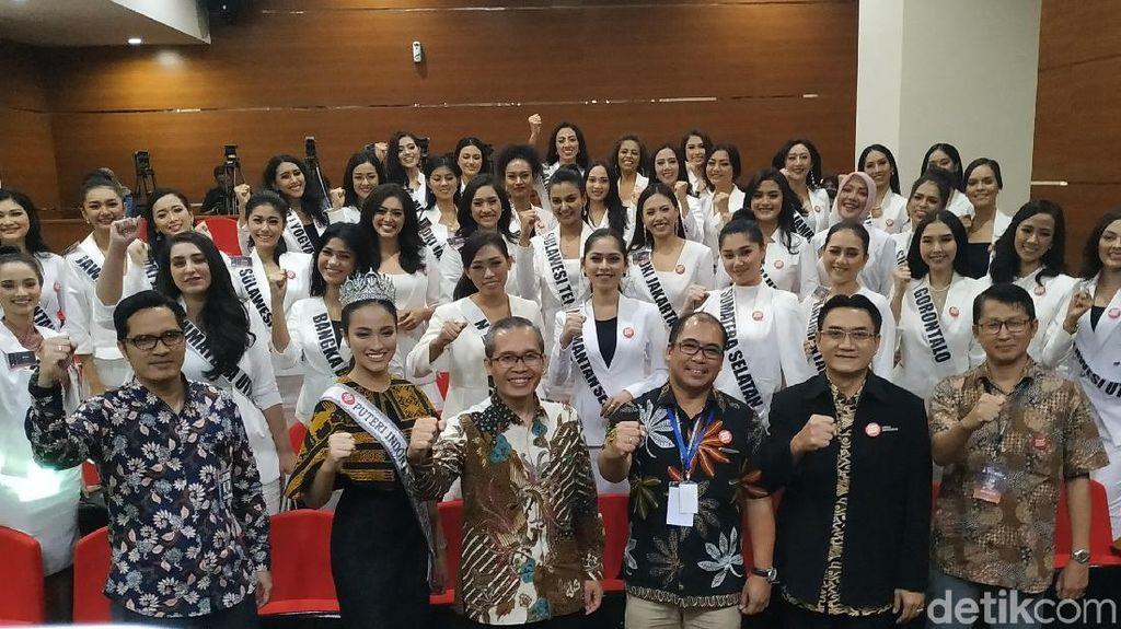 39 Finalis Puteri Indonesia Diminta Jadi Agen KPK di Medsos