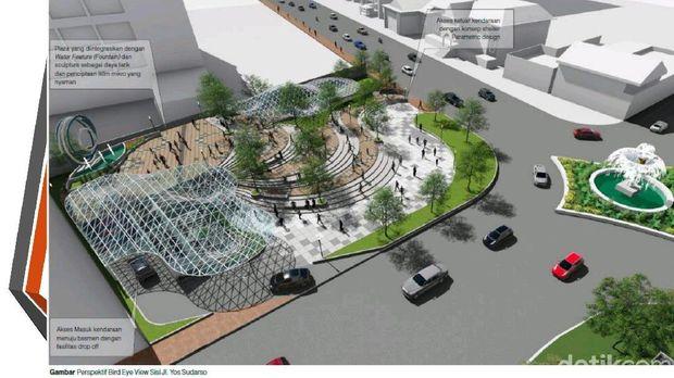 Keren! Begini Detail Konsep Alun-alun di Tengah Kota Surabaya