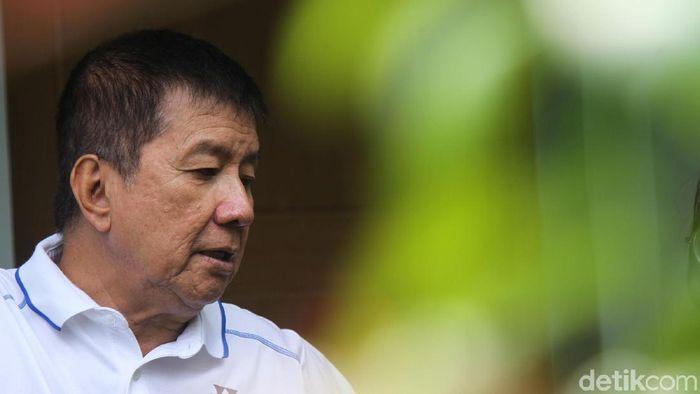 Legenda bulutangkis Rudy Hartono memuji pencapaian Hendra Setiawan/Mohammad Ahsan.  (Rifkianto Nugroho/detikSport)