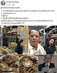 postingan Arnon Rodthong di Facebook.