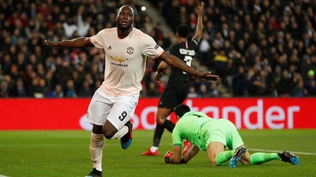 Romelu Lukaku mencetak dua gol untuk Manchester United. (