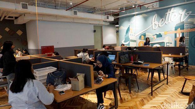 Ilustrasi Co Working Space di Jakarta. Penyewaan ruang kerja yang nyaman dan menarik semakin marak di ibukota. Seperti inilah salah satunya
