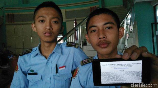 Ahmad Nur Muzakki (16) dan Mastri Imammusadin (17)