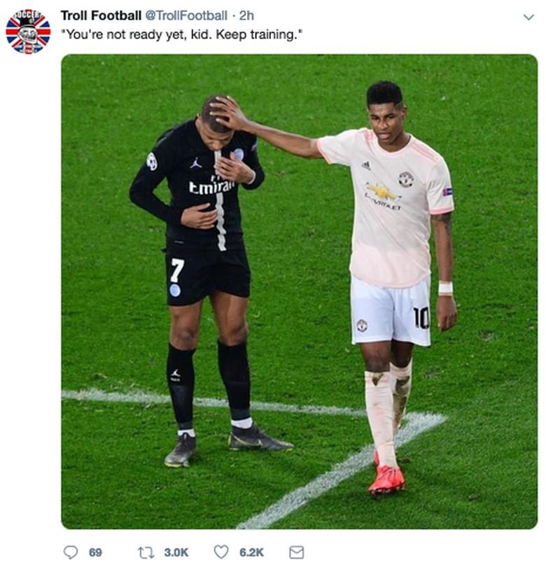 MU lolos secara dramatis ke perempatfinal Liga Champions dengan menyingkirkan PSG. (Foto: Internet/Twitter)