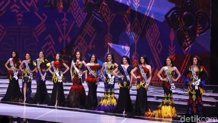 Finalis Puteri Indonesia 2019 yang lolos 11 besar.  Foto: Muhammad Abduh/Detikcom