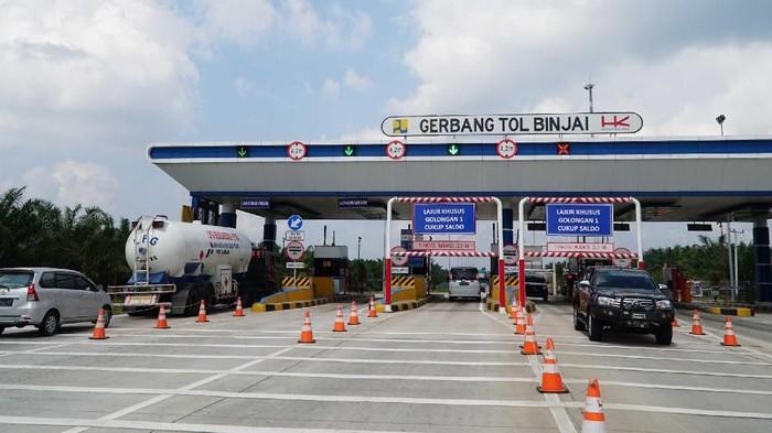 Proyek pembangunan jalan Tol Medan-Binjai Seksi 1 (Helvetia-Tanjungmulia) terus dikebut. Begini progres jalan tol dengan panjang sekitar 6, kilometer tersebut.