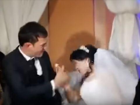 Video Pengantin Wanita Ditampar oleh Suami Jadi Viral, Hanya Karena Kue