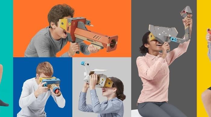 Nintendo rilis mainan VR untuk konsol Switch menggunakan produk Labo. Foto: Nintendo