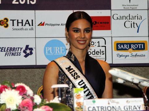 Miss Universe 2018 Catriona Gray datang ke Jakarta untuk menghadiri final Puteri Indonesia 2019.
