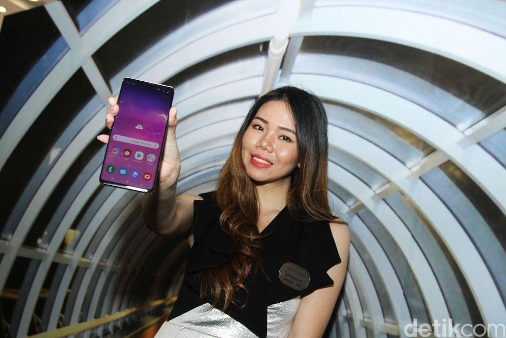 ParaSPG ini akan membantu para calon pembeli memberikan info tentang Samsung flagship terbaru. (Foto: detikINET/Rifkianto Nugroho)
