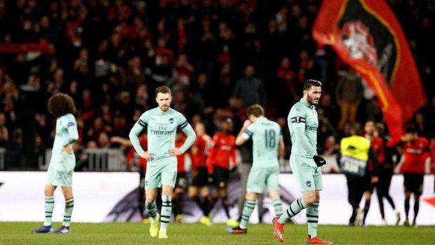 Arsenal tumbang di markas Rennes.