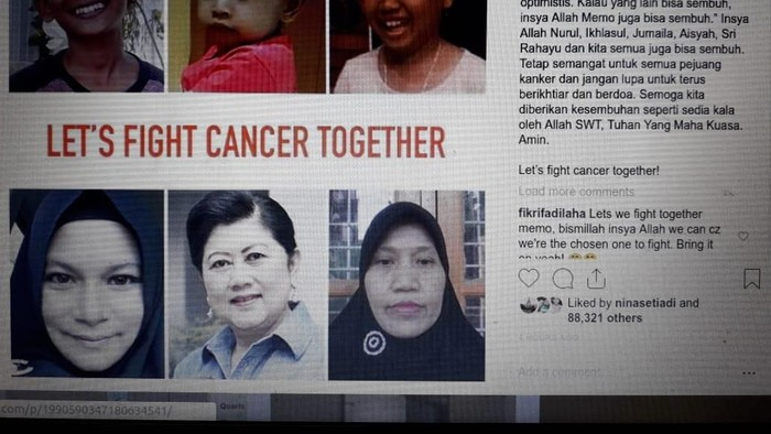 Ani Yudhoyono yang sedang berjuang melawan kanker darah mengunggah apresiasinya atas ucapan semangat yang diberikan. (Foto: Repro Instagram Ani Yudhoyono)