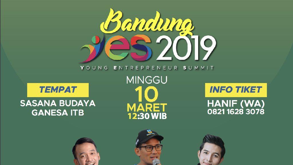 Dear Milenial Jabar, Ikut Bandung YES 2019 Biar Jadi Pengusaha Sukses