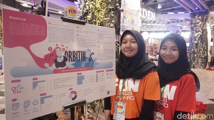 Dua pelajar ini membuat riset ilmiah yang terinspirasi kisah cinta Luna Maya (Foto: Widiya Wiyanti/detikHealth)