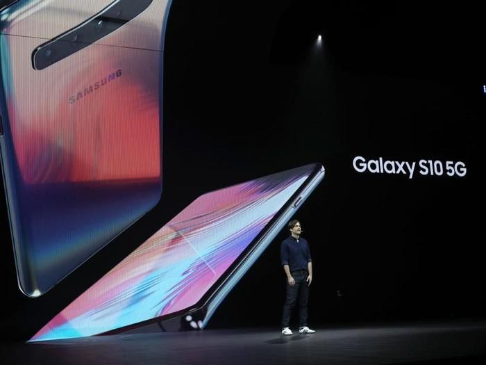 Pengenalan Samsung Galaxy S10 5G di San Francisco, California, Amerika Serikat. Foto: Justin Sullivan/Getty Images