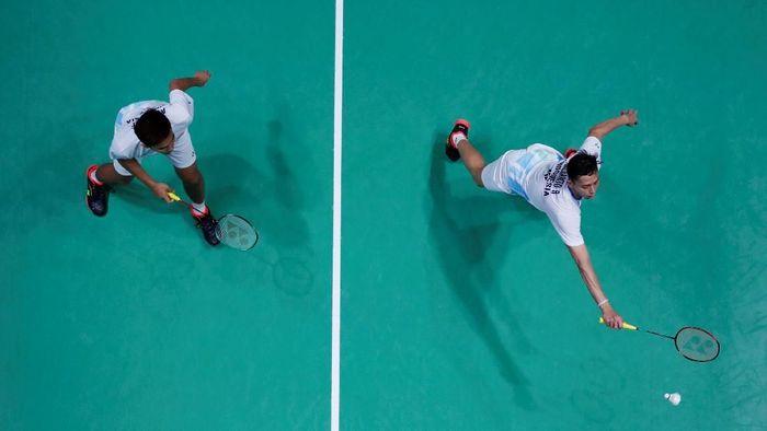 Fajar Alfian/Mohammad Rian Ardianto fokus satu demi satu pertandingan di Indonesia Open 2019.  (Andrew Boyers/Reuters)