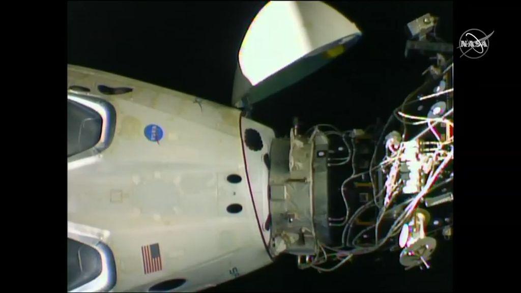 Proses kembalinya Crew Dragon menuju Bumi dimulai pada dini hari waktu Amerika Serikat bagian timur.Foto: NASA TV