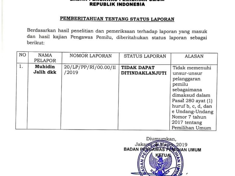 Bawaslu Hentikan Laporan Eggi Sudjana soal Jokowi
