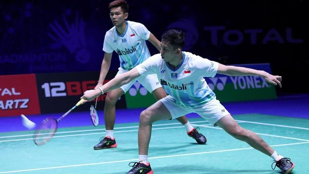Fajar Alfian/Muhammad Rian Ardianto gagal mewujudkan All Indonesian Final di All England 2019.