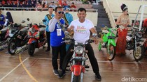 Motor Modifikasi Warnai Millennial Road Safety Festival di Magetan