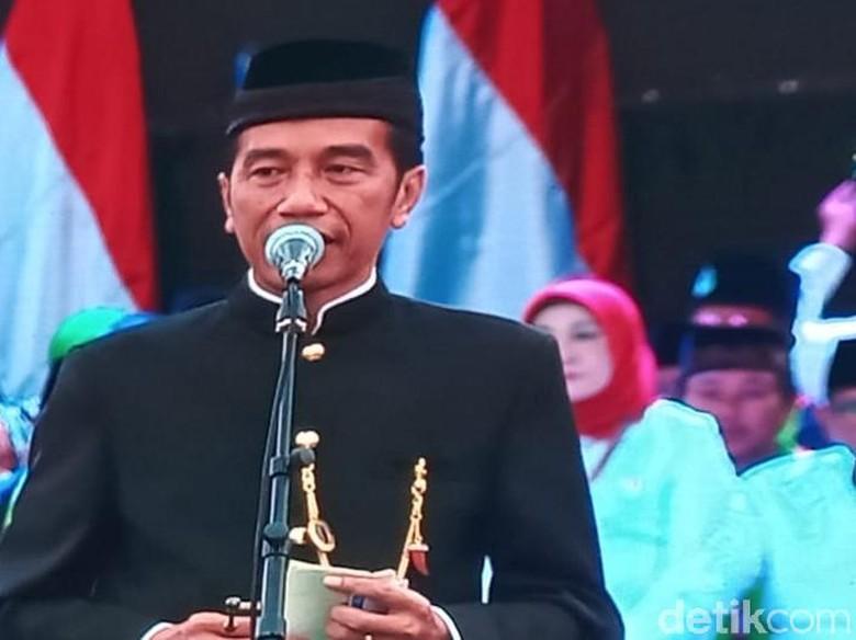 Foto: Jokowi di deklarasi FBR (Samsudhuha Wildansyah/detikcom)