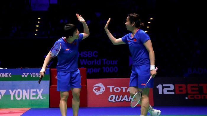 Chen Qingchen/Jia Yifan dari China juarai ganda putri All England 2019. (Andrew Boyers/Reuters