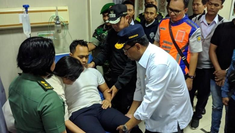 Menhub: Masinis KRL Jakarta-Bogor Terguling Belum Bisa Diajak Bicara